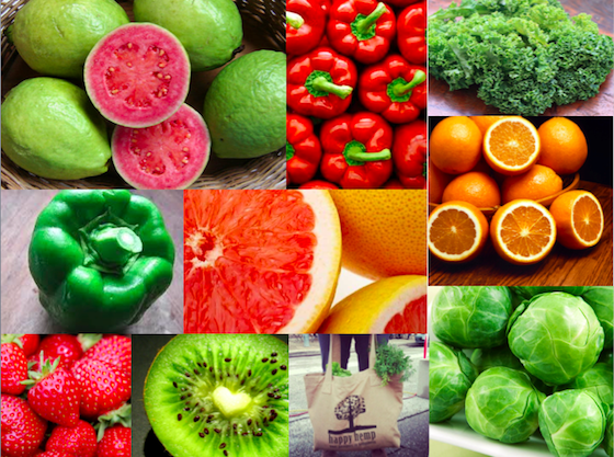 Alimentos com mais vitamina C do que a laranja